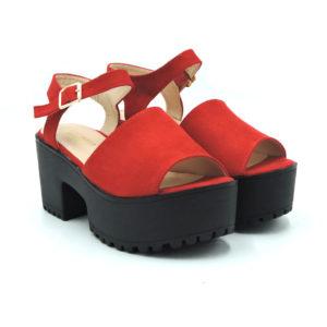 Sandalia Fedora rojo