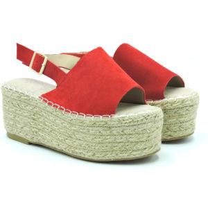Sandalia Brais rojo