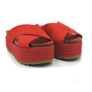 Sandalia Zenda rojo